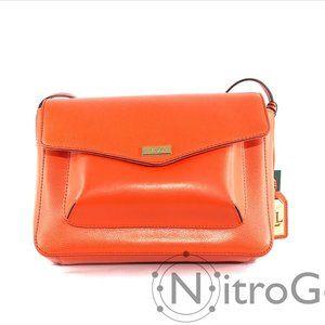 Ralph Lauren Bramley Leather Messenger Bag NWT